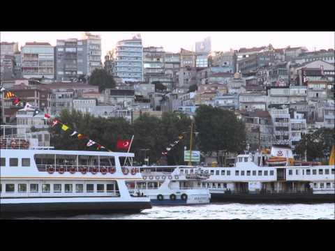 European side of the Bosphorus strait , Istanbul, Turkey