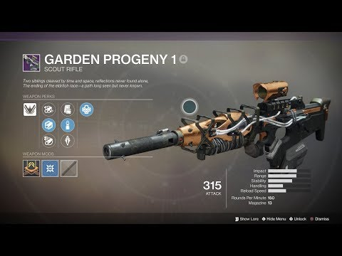"""Destiny 2: Curse of Osiris - """"Garden Progeny 1"""" Forged Scout Rifle (Lost Prophecy, Verse 1)"""