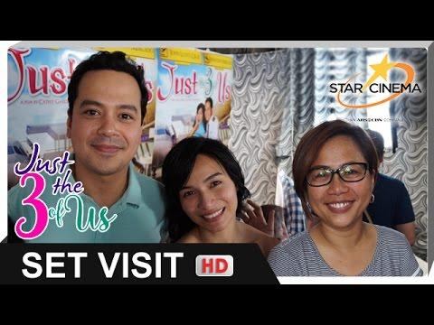 [FULL] 'Just The 3 Of Us' Set Visit   John Lloyd Cruz, Jennylyn Mercado, Direk Cathy Garcia-Molina
