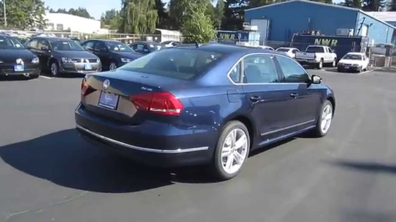 2015 Volkswagen Passat, Night Blue Metallic - STOCK# 110112 - Walk around - YouTube