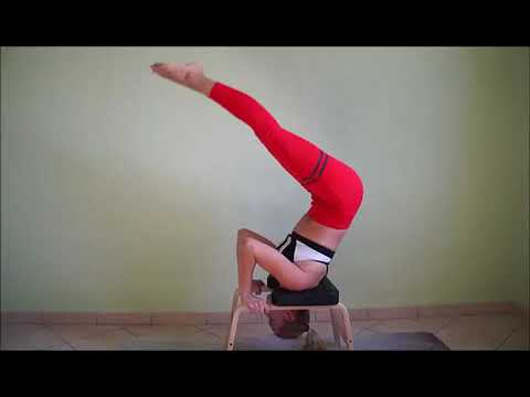 yoga headstand bench  youtube