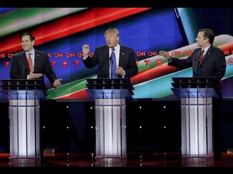 10th Republican Debate Highlights 25 Feb - Cruz and Rubio Attack Trump