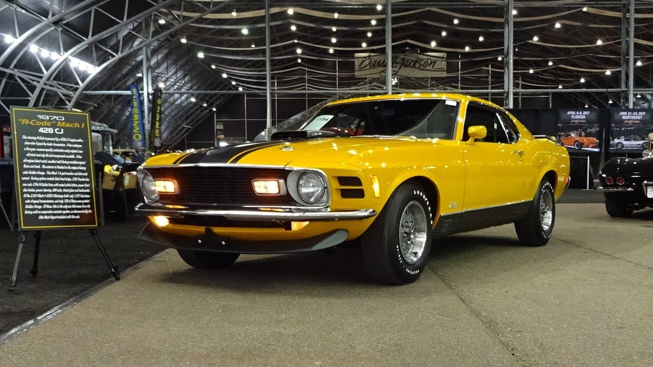 1970 ford mustang mach 1 in grabber orange 428 cj engine sound on my car story with lou costabile
