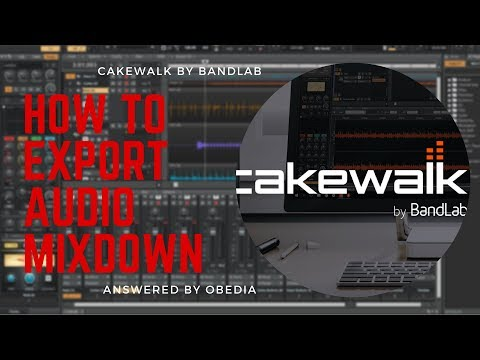 How to Export Audio From Cakewalk by BandLab