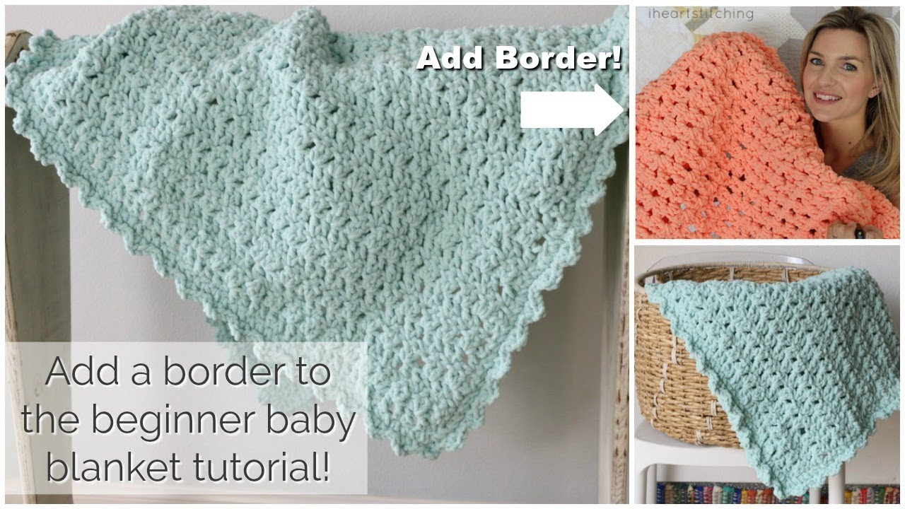 Crocheted Baby Blankets Add A Border To The Easy Crochet Baby Blanket