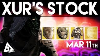 Destiny Xur March 11th - Xur's Location & Stat Rolls | Destiny The Taken King Exotics