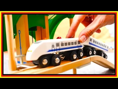 BRIO Toys BRIDGE DESTRUCTION! - Toy Cars & Trains Demo - Learn High & Low - Videos for kids