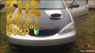 How to install a hood scoop on any car