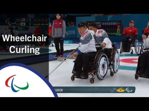 USA v Korea | Round Robin | Wheelchair curling  | PyeongChang2018 Paralympic Winter Games