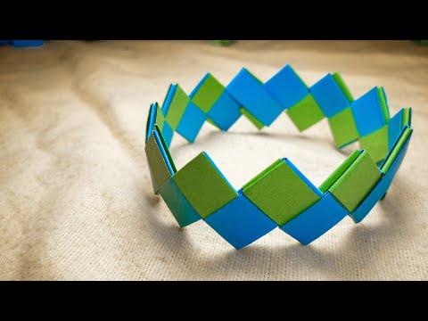DIY Paper Bracelet l Friendship l paper crafts