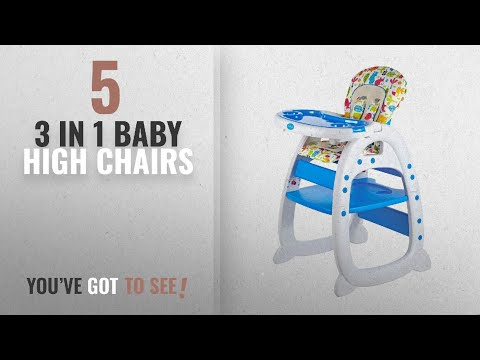 Top 10 Chairs 3 In 1 Baby High [2018]: Evezo Rose Baby High Chair and Table 3-in-1 Convertible