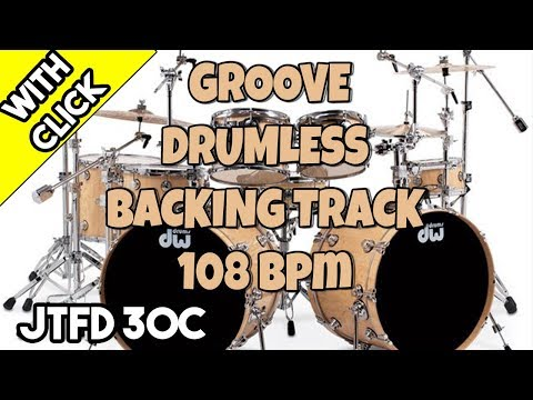 Groove 108 bpm | Drumless Backing Track For Drummers with
