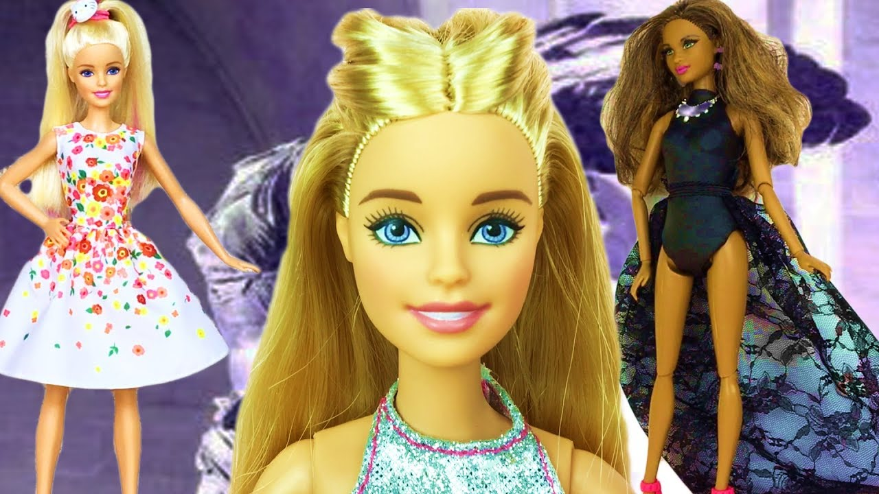 Cute hairstyles for barbie dolls - Barbie Doll Show Time Very Cute And Cool Barbies Hairstyles Fashion Barbies Art Shot Video