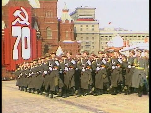 HD Soviet October Revolution Parade, 1987 Part I Парад 7 Ноября