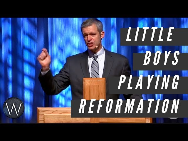 Paul Washer: Little boys playing reformation