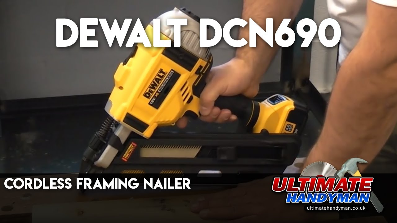 Dewalt DCN690 cordless framing nailer - YouTube