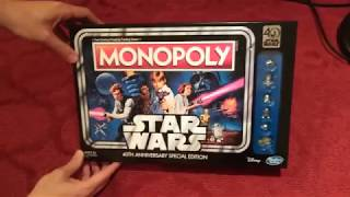 Unboxing/See What's Inside Star Wars Monopoly 40th Anniversary Special Edition
