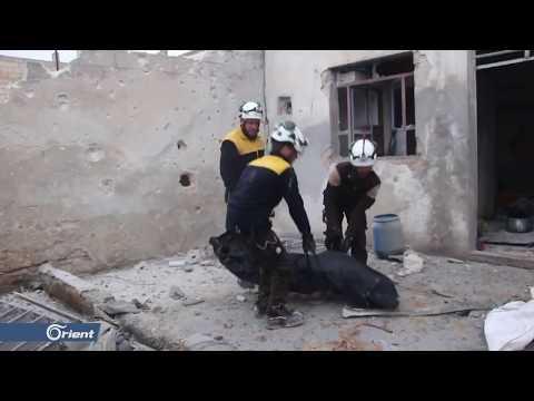 """بعد قمة """"سوتشي- ... ميليشيا أسد الطائفية ترتكب مجزرة في مدينة خان شيخون - سوريا"""