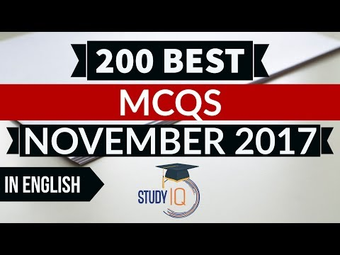 English - 200 Best current affairs MCQ from November 2017  - IBPS PO / SSC CGL / UPSC / RBI Grade B