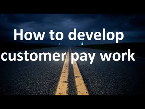 "Fixed Performance ""How to develop customer pay work"""