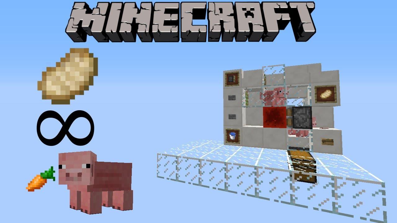 Ferme de cochon automatis e c telette minecraft tutoriel nouriture youtube - Minecraft cochon ...