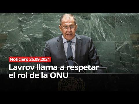 Download Lavrov llama a respetar el rol de la ONU  - NOTICIERO 26/09/2021