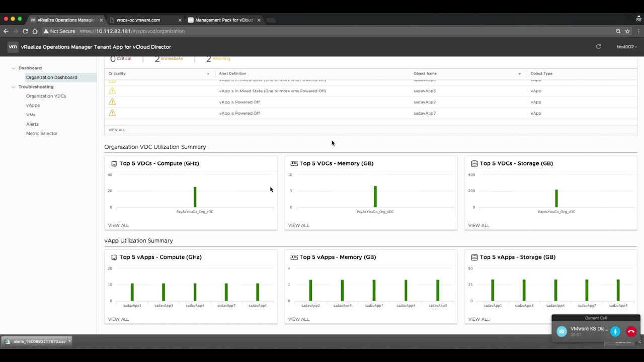 vRealize Operations Manager Tenant App for vCloud Director