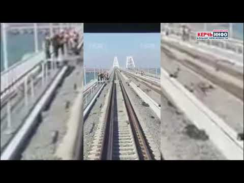 На поезде по Крымскому мосту