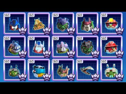 Kleurplaten Angry Birds Transformers.Angry Birds Transformers All Characters Unlocked Overpowered
