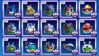 Angry Birds Transformers ALL Characters Unlocked Overpowered Promoted Max Rank