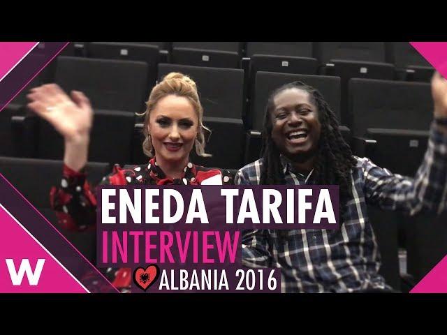 Eneda Tarifa (Albania 2016) Interview @ Tirana | wiwibloggs