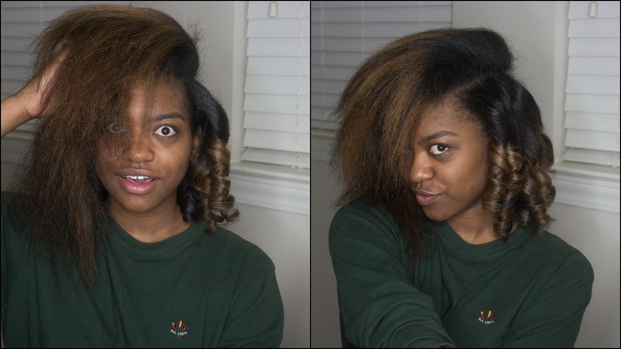 Flat Iron Curls On BlowOut Natural Hair YouTube