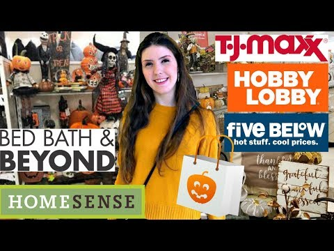 FALL DECOR Shop With Me: Hobby Lobby, Five Below, TJ Maxx, & More!!