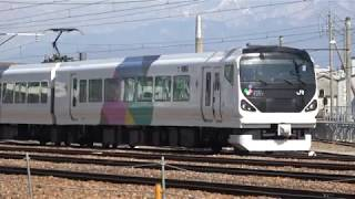 E257系M205編成入場―構内移動 長野総合車両センター
