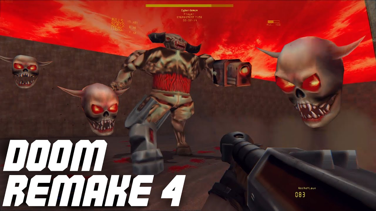Doom Remake 4 | Doom Mod | Doom E2M8 : Tower of Babel | Cyberdemon Boss  Battle