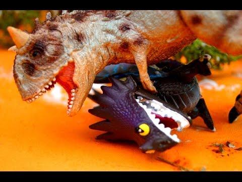 ПРОКЛЯТИЕ КАРНОЗАВРА! ДИНОЗАВРЫ! Сказка про динозавров! Видео Игрушки
