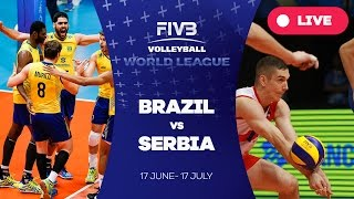 vuclip Brazil v Serbia - Group 1: 2016 FIVB Volleyball World League