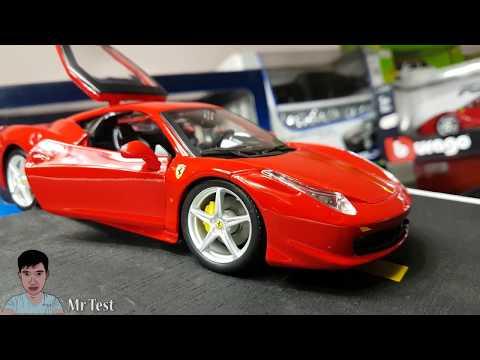 Ferrari 458 Italia Mini Car Model 1:24 Scale Unboxing   Model Toy Car