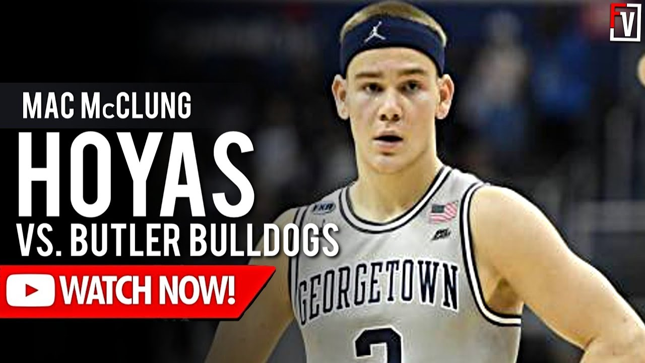 Mac Mcclung Georgetown Vs Butler Highlights 2 9 2019