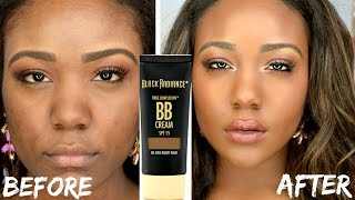 $5 FOUNDATION ROUTINE?! Flawless Everyday DRUGSTORE BB CREAM  Demo + Review for Black Women 2015