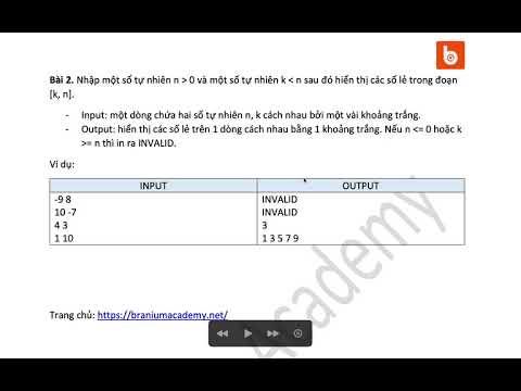 C++ Bài 15.2: Liệt kê các số lẻ trong đoạn [k, n]