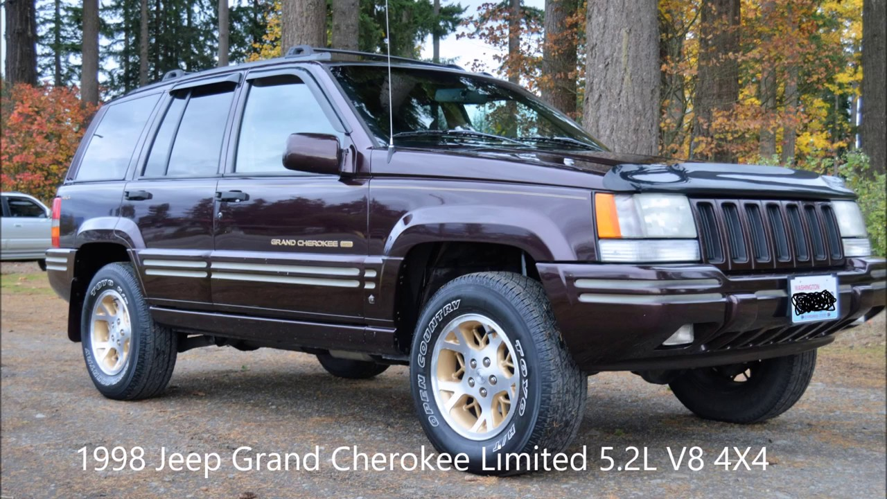 1998 jeep grand cherokee limited 5 2l v8 4x4 leather. Black Bedroom Furniture Sets. Home Design Ideas