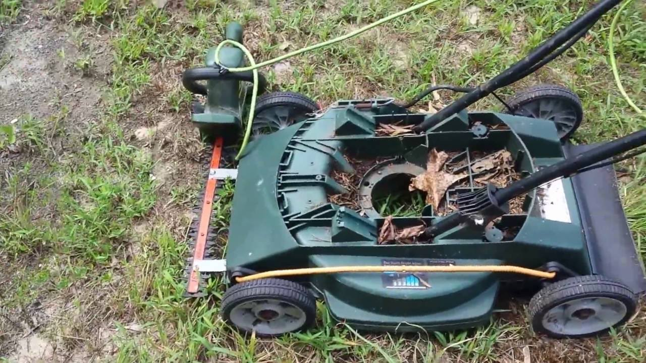 Converted Hedge trimmer into Brush remover!