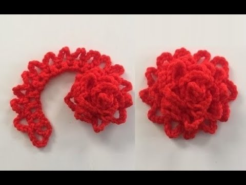 How To Crochet A Flower Pattern 266by Thepatternfamily Youtube