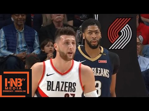 New Orleans Pelicans vs Portland Trail Blazers 1st Half Highlights / Game 1 / 2018 NBA Playoffs