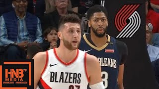 New Orleans Pelicans vs Portland Trail Blazers 1st Half Highlights / Game 1 / 2018 NBA Playoffs