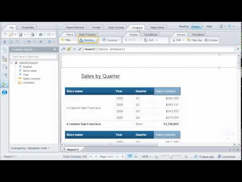 Add A Ranking To Data Sap Businessobjects Web Intelligence 4 0 Youtube
