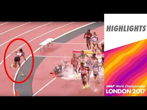 WCH London 2017 Highlights - 3000m Steeplechase - Women - Final - Emma Coburn takes Gold!