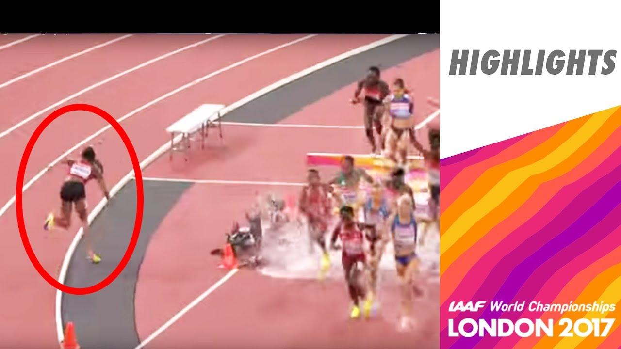 6dc991c143 WCH London 2017 Highlights - 3000m Steeplechase - Women - Final - Emma  Coburn takes Gold!