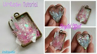 Faux Crystals with UV-RESIN *Krikreativ* Wunderschöne Kristalle mit UV-Resin TUTORIAL